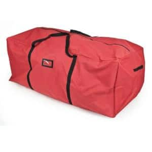 59 in. Red Extra Large Christmas Tree Storage Bag - Fits 6 ft. to 9 ft. Artificial Trees