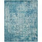 Evoke Blue/Ivory 8 ft. x 10 ft. Area Rug