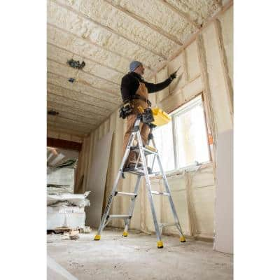 5.5 ft. Aluminum Dual Platform Heavy-Duty Ladder with Project Bucket(10 ft. Reach), 300 lb. Capacity Type IA Duty Rating