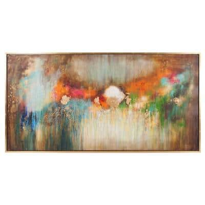 Illusion Floater Frame Abstract Wall Art 38 in. x 74 in.