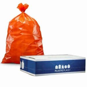 33 in. W x 48 in. H 42 Gal. 3.0 mil Orange Contractor Trash Bags (50-Case)