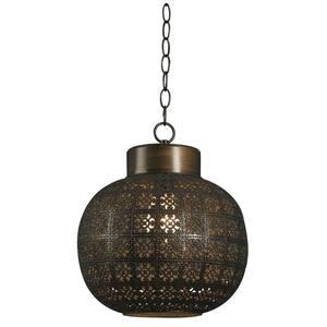 Seville 1-Light Aged Bronze Mini Pendant