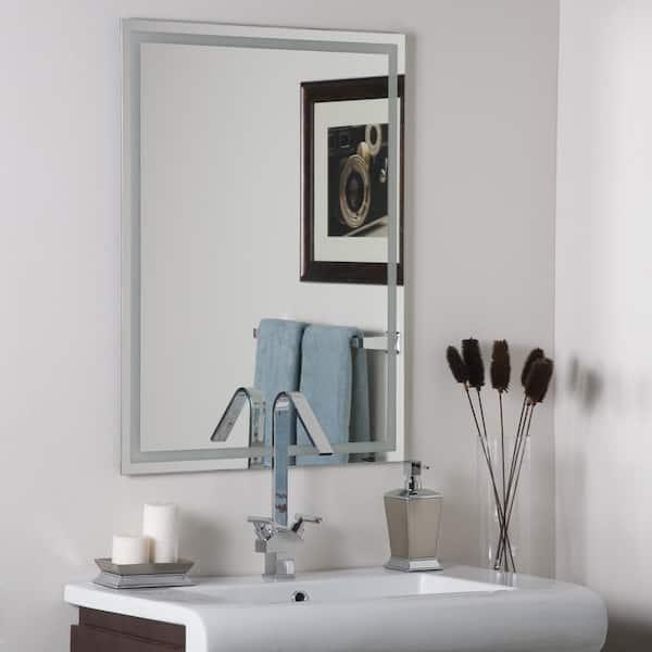 Decor Wonderland 24 In W X 32 In H Frameless Rectangular Bathroom Vanity Mirror In Silver Dwsm13 The Home Depot