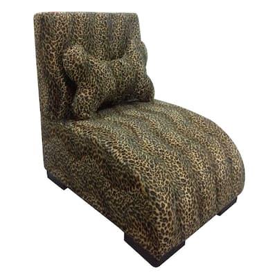 22.75 in. H Leopard Lounge Upholstered Pet Furniture