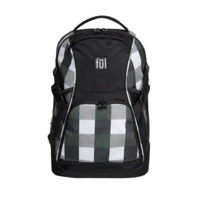 Marlon 19 in. Black and White Laptop Backpack