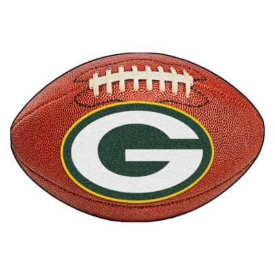 NFL Green Bay Packers Photorealistic 20.5 in. x 32.5 in Football Mat