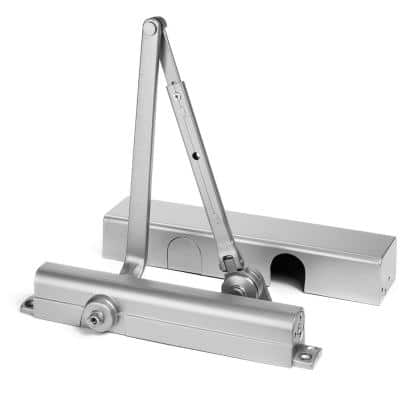 Heavy-Duty Grade-1 Aluminum Commercial Door Closer with Hold Open Arm