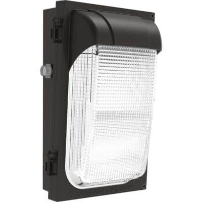 Contractor Select TWX 100-Watt Equivalent Integrated LED Dark Bronze Dusk to Dawn Wall Pack Light Slim Profile, 4000K