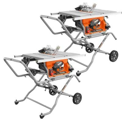 10 in. Pro Jobsite Table Saw with Stand and Pro Jobsite Table Saw with Stand