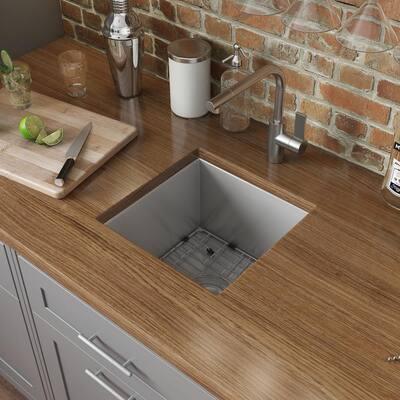 Nesta 16 Gauge Stainless Steel 15 in. Undermount Bar Sink