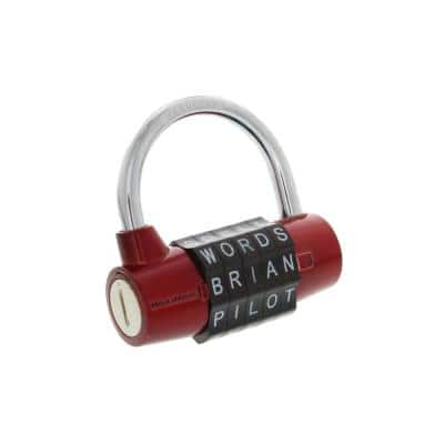 Steel 5-Dial Resettable Combination Hardened Padlock in Red