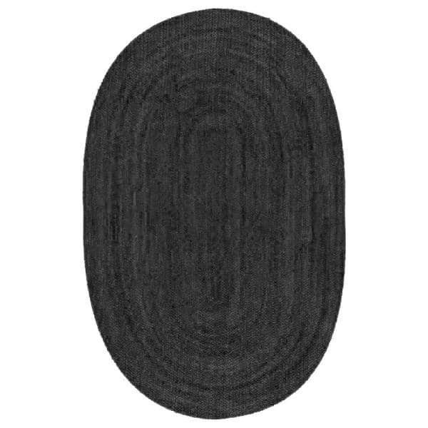 Nuloom Rigo Chunky Loop Jute Black 4 Ft X 6 Ft Oval Rug Tajt03c O406 The Home Depot