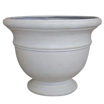 Jean Pierre 19 in. x 14.5 in. Ivory Resin Composite Planter