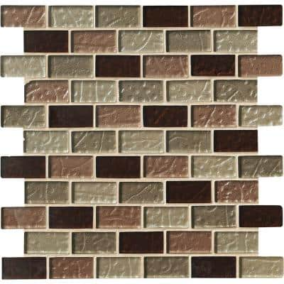 Ayres Blend 12 in. x 12 in. x 8 mm Glass Mesh-Mounted Mosaic Tile