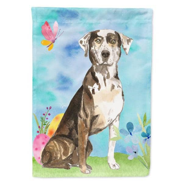 Caroline S Treasures 28 In X 40 In Polyester Easter Eggs Catahoula Leopard Dog Flag Canvas House Size 2 Sided Heavyweight Ck1919chf The Home Depot