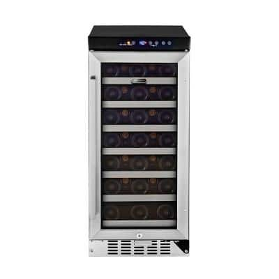 33-Bottle Built-In Wine Refrigerator in Stainless Steel