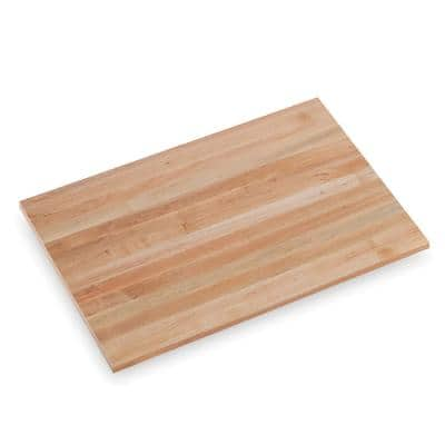 Finished Maple 3 ft. L x 25 in. D x 1.5 in. T Butcher Block Countertop with square edge