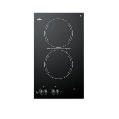 12 in. 120-Volt Radiant Electric Cooktop in Black with 2 Elements