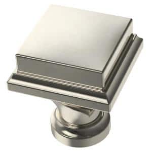Regal Square 1 in. (25 mm) Polished Nickel Cabinet Knob