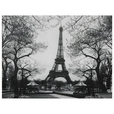"24 in. x 32 in. ""Eiffel Tower Park"" Canvas Wall Art"