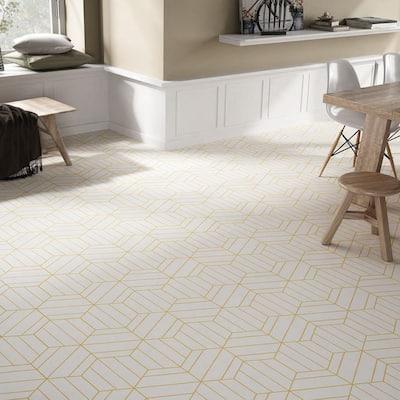 Porto Savona Hex 9-7 / 8 in. x 8-5 / 8 in. Dandelion Porcelain Floor and Wall Tile (11.56 sq. ft. / case)