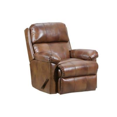 35 in. Width Big and Tall Chaps Pattern Leather Rocking Zero Gravity Recliner