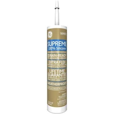 Supreme Silicone 10.1 oz. White Window and Door Caulk