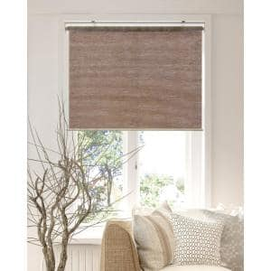 Achim Privacy Natural Cordless Light Filtering Woven Poly Jute Roller Shade 33 In W X 72 In L Cps336nt01 The Home Depot