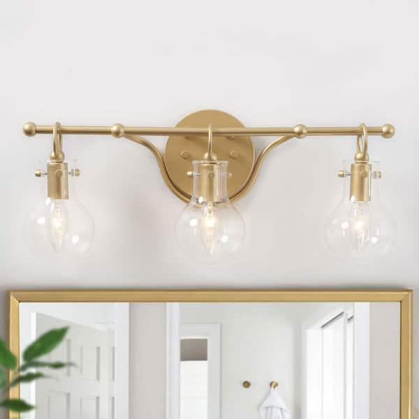 Laluz Lavi 3 Light Modern Industrial, 3 Light Bathroom Vanity Light