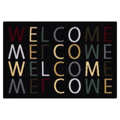 Doormat Collection Rectangular Multicolored Welcome Home 20 in. x 30 in. Door Mat