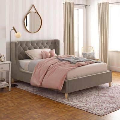 Monarch Hill Ambrosia Gray Full Size Upholstered Bed
