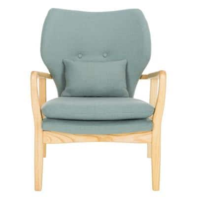 Tarley Blue/Natural Polyester/Linen Accent Chair