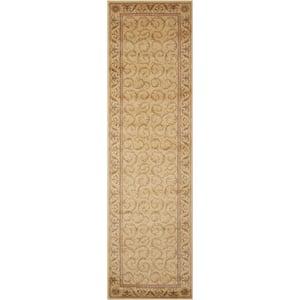 Somerset Ivory 2 ft. x 8 ft. Persian Vintage Runner Rug
