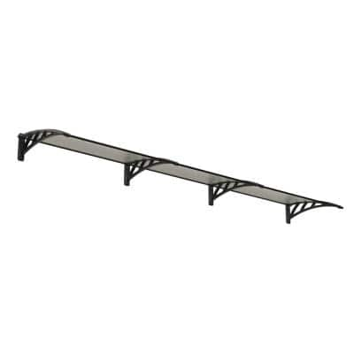 Neo 3540 11 ft. 7 in. Gray/Clear Twin-Wall Door Canopy Awning