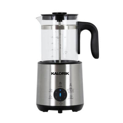 Bartista 3-Cup Stainless Steel Electric French Press Coffee Maker