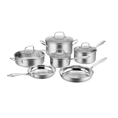 MultiClad 10-Piece Stainless Steel Cookware Set