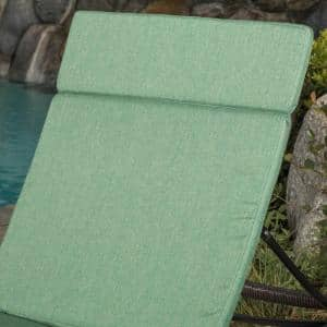 Miller Jungle Green Outdoor Chaise Lounge Cushion
