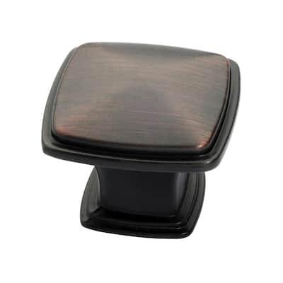 1-1/4 in. Oil Rubbed Bronze Square Cabinet Knob (25-Pack)