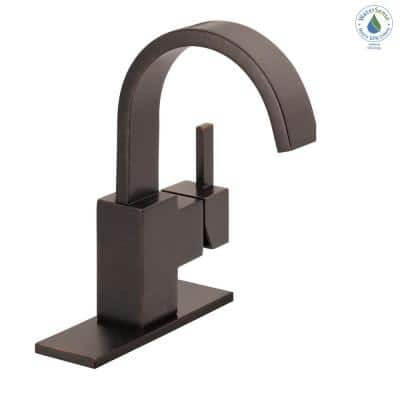 Vero Single Hole Single-Handle Bathroom Faucet with Metal Drain Assembly in Venetian Bronze