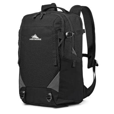 Takeover 6.5 in. Backpack Bookbag with Laptop Pocket and Tablet Sleeve, Black