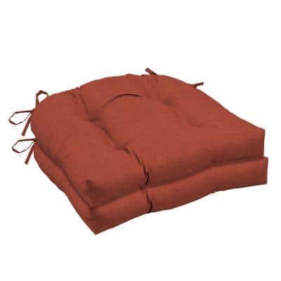 Sedona Woven Outdoor Tufted Seat Cushion (2-Pack)
