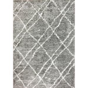 Nordic Grey/Ivory 5 ft. 3 in. x 7 ft. 7 in. Trellis Area Rug