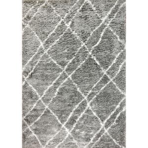 Nordic Grey/Ivory 7 ft. 5 in. x 10 ft. 6 in. Trellis Area Rug