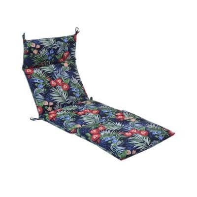 21.5 in. x 72 in. x 4 in. Caprice Tropical Outdoor Chaise Lounge Cushion