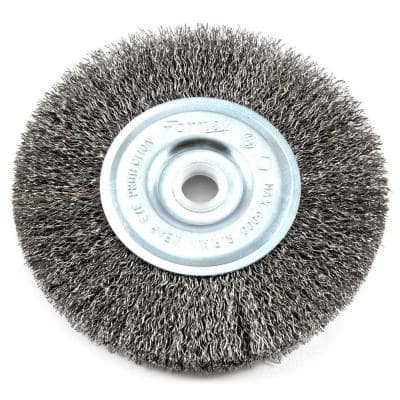 5 in. x 1/2 in. Through 5/8 in. Arbor Coarse Crimped Wire Wheel Brush