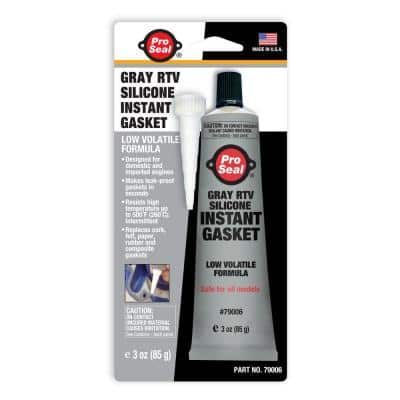 3 oz. Gray RTV Silicone Instant Gasket (12-Pack)