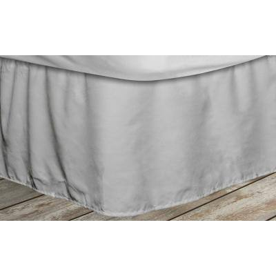 Frita 15 in. Grey Striped King Bed Skirt