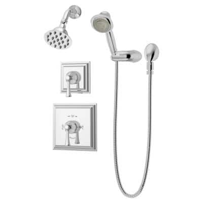 Canterbury 2-Handle Shower Faucet Trim Kit with Hand Shower in Chrome (Valve Not Included)