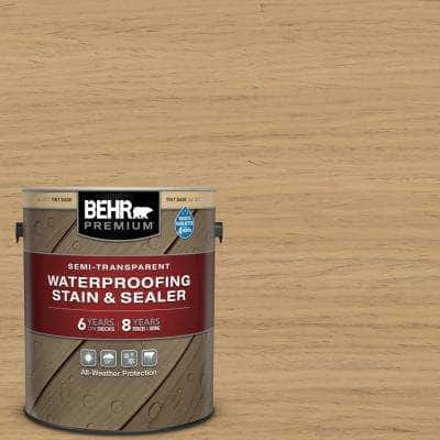 1 gal. #ST-127 Beach Beige Semi-Transparent Waterproofing Exterior Wood Stain and Sealer