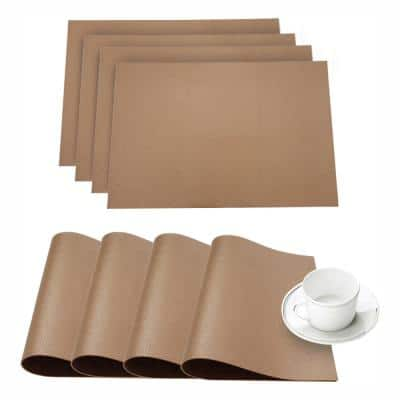 Pebble Ivory Faux Leather Placemat (Set of 4)